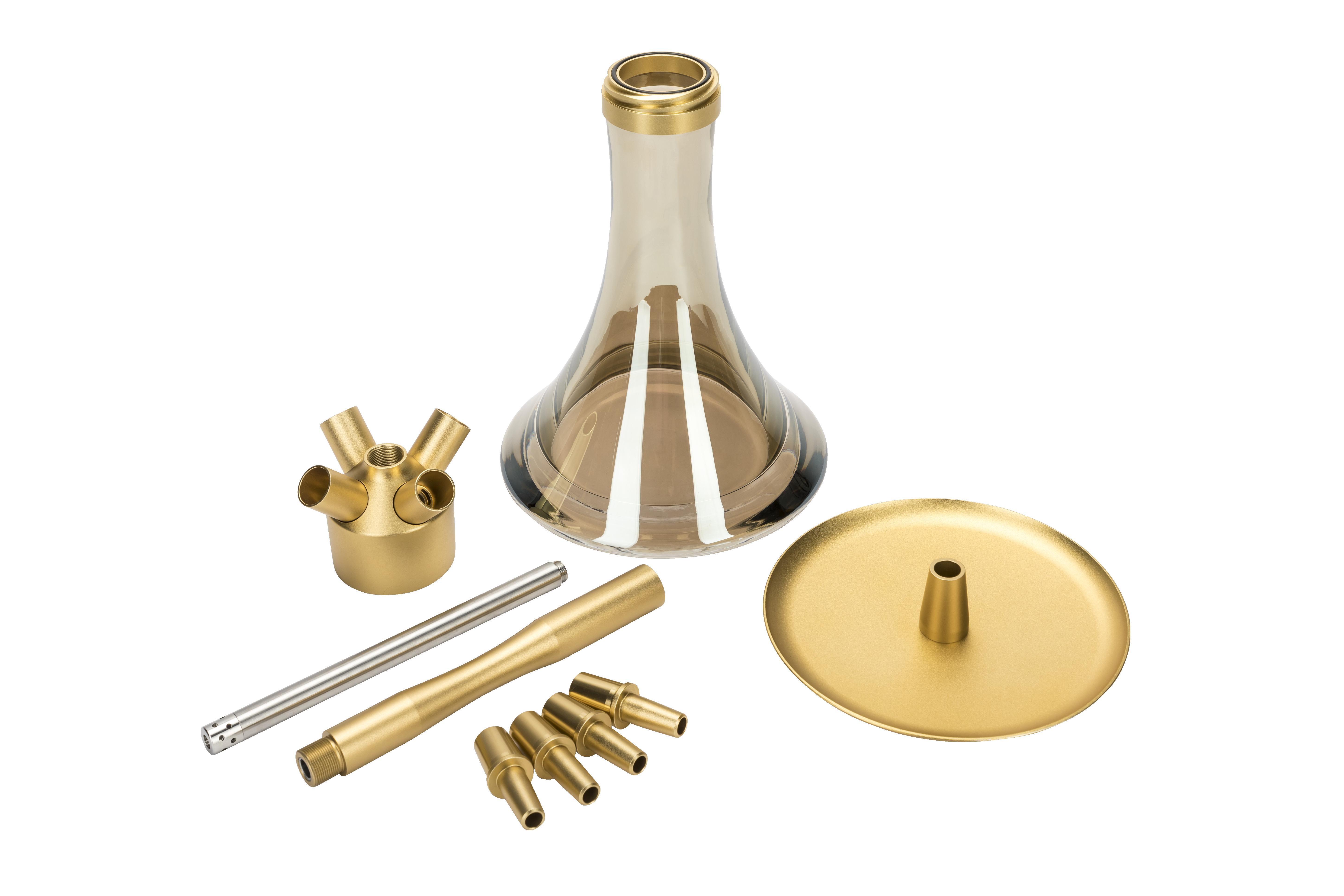 MOE'S WANTED M1 - Aluminium Gold matt -  KOMPLETT SET