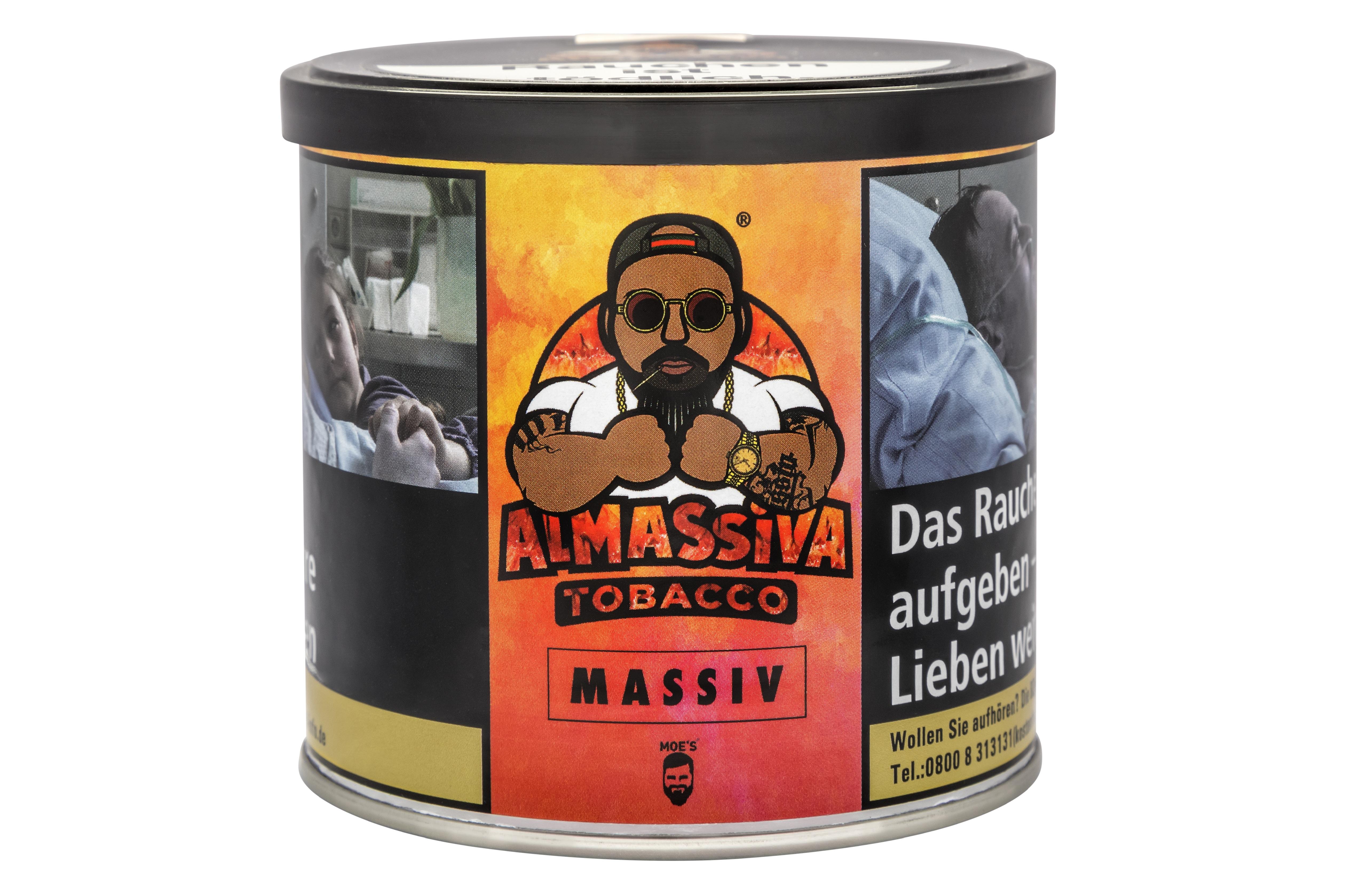 """ALMASSIVA """"MASSIV"""" SHISHA TABAK PFIRSICH"""
